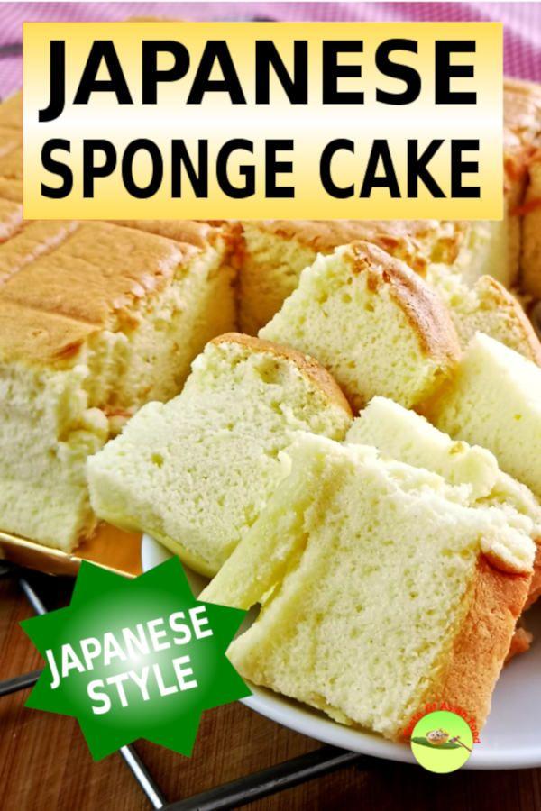 Japanese Sponge Cake Recipe Japanese Cotton Sponge Cake Recipe