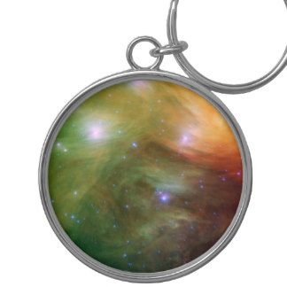 Pleiades The 7 sisters  in infrared Keyring Zazzle