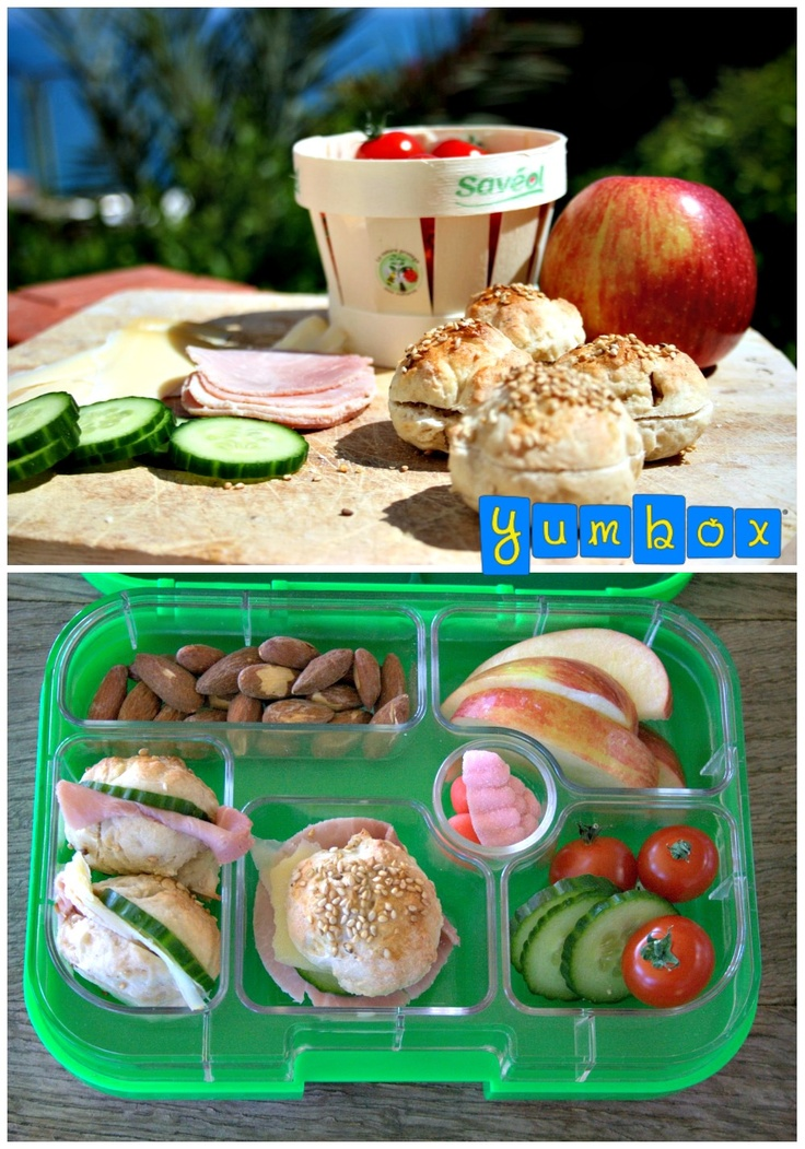 Mini bun sandwiches. They get gobbled-up in seconds, even by the not-so-very eager sandwich eaters. Too cute!!! Recipe at www.yumboxlunch.com