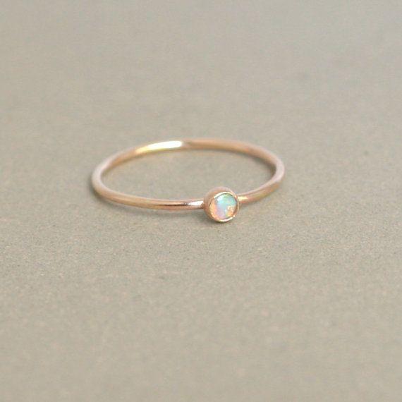 delicate gold opal ring. #mjwishlist