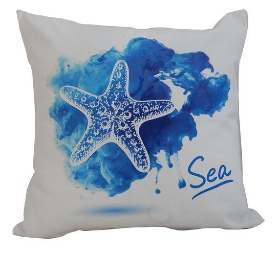 poszewka marine watercolor rozgwiazda