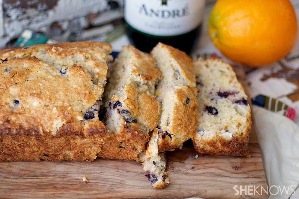 New Years champagne brunch menu: Blueberry mimosa quick bread #recipe