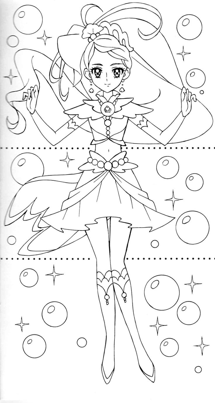 oasidelleanime precure coloring pages - photo #17