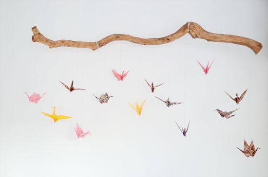 21 Lampshades: DIY Babykamer - Kraanvogel mobiel voor Lenthe ♡