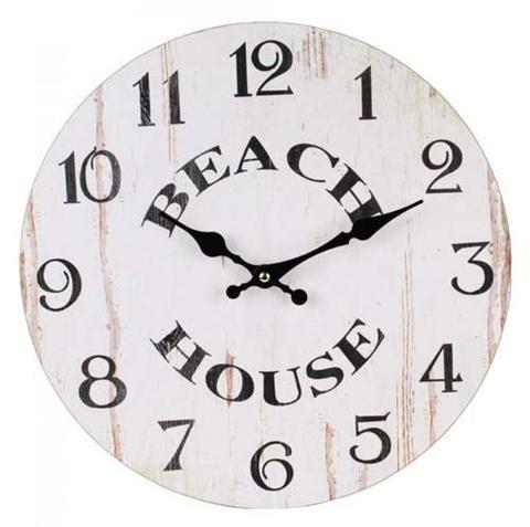 Beach House Wall Clock - White - The Hippie House
