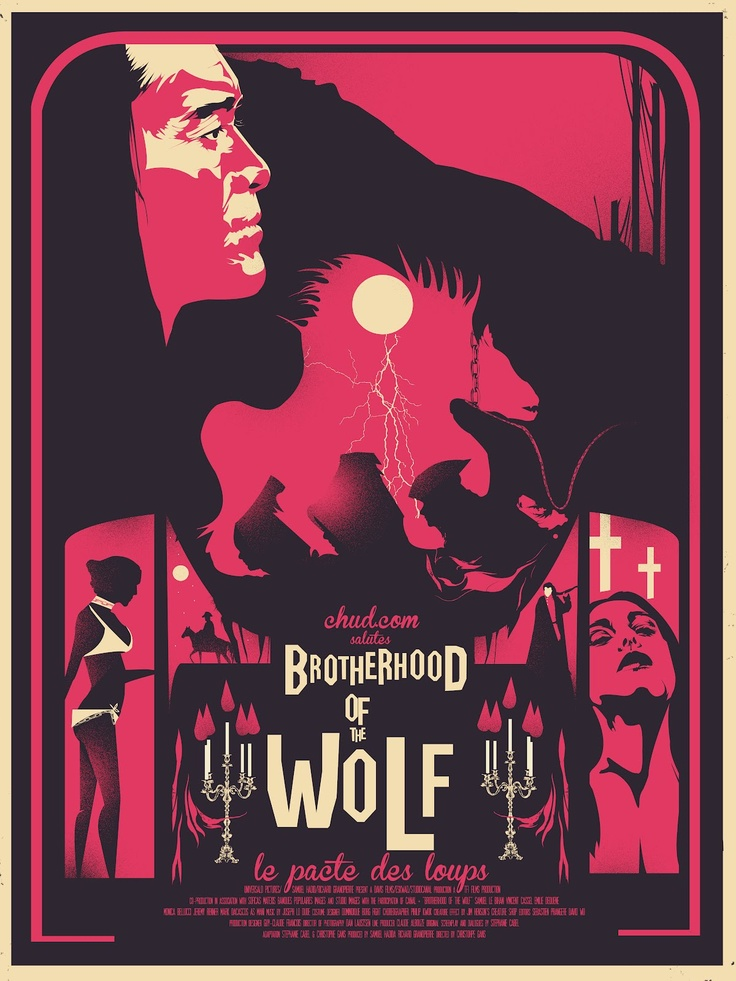 Brotherhood of the Wolf print from Chud.com.  I LOVE THIS MOVIE.  Werewolves, kung fu, and so much more.