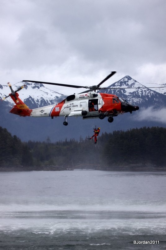 The coast guard is a vital and important part of Alaska and our community.  The Sitka Seafood Festival would like to thank the coast guard and it's family for it's continued support, and we look forward to another rescue swimmer demonstration during the Aug.9-12, 2012 festival...only one of the many demonstrations that are offered free at the festival.