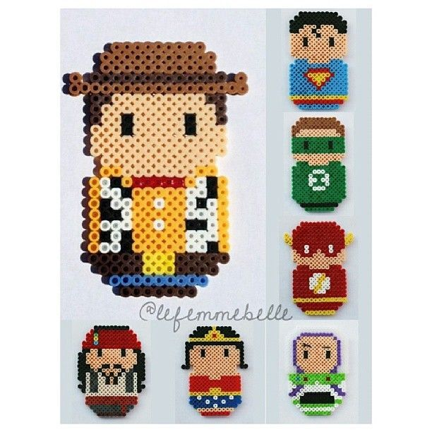 Hama beads chibi version! Pick your character now!! IDR 37k - lefemmebelle @ Instagram Web Interface - 5th village