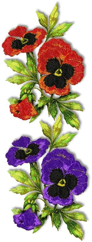 Advanced Embroidery Designs - Pansy