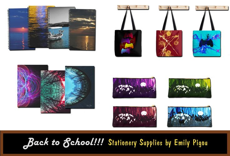 Stationery Supplies By Emily Pigou #backtoschool #stationary #supplies #notebooks #journals #totebags #pouches #pencilpouch ##schoolsupplies #stationarysupplies #teenagers #Kids #buystationary #coolstationarysupplies #hardcoverjournals #spiralnotebooks #fashionschoolaccesories