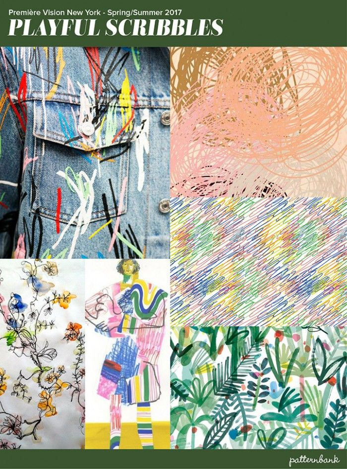 Première Vision New York – S/S 2017 Print & Pattern Trend Round Up - Playful Scribbles
