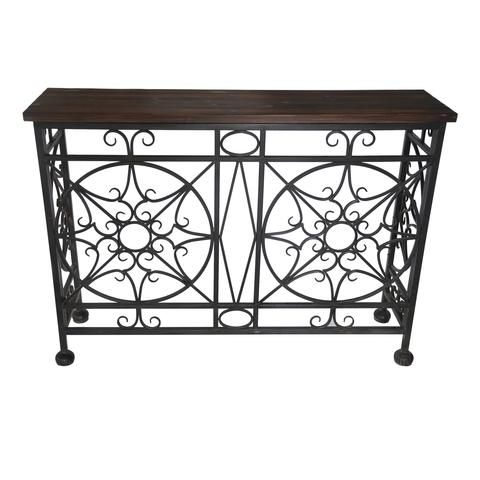 Broadmoor Metal And Wood Console Table - The Rustic Furniture Store