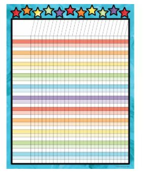 """Track student growth and inspire positivity with incentive charts.  Recognize students' efforts and track their progress with the Celebrate Learning incentive chart. This customizable 17"""" x 22"""" motivational chart features a separate writing space for each student's name."""