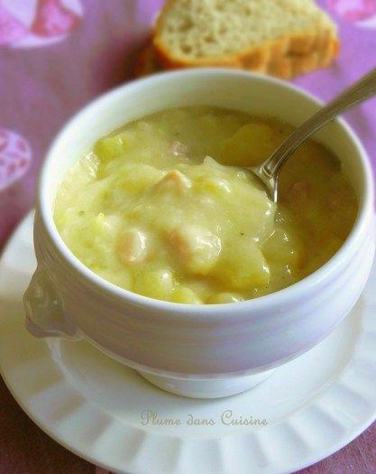...★★★... Soupe de pommes de terre crémeuse au jambon
