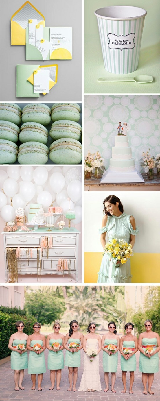 Simply By Tamara Nicole: Seattle Weddings: ~Wedding Color Schemes: Mint Green~