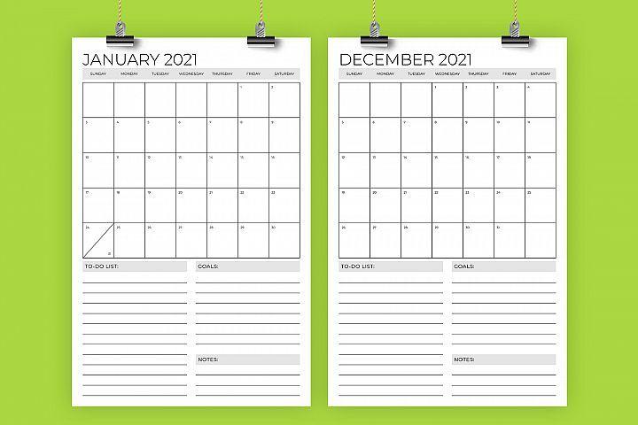 11x17 Printable Calendar 2021   2022 Calendar