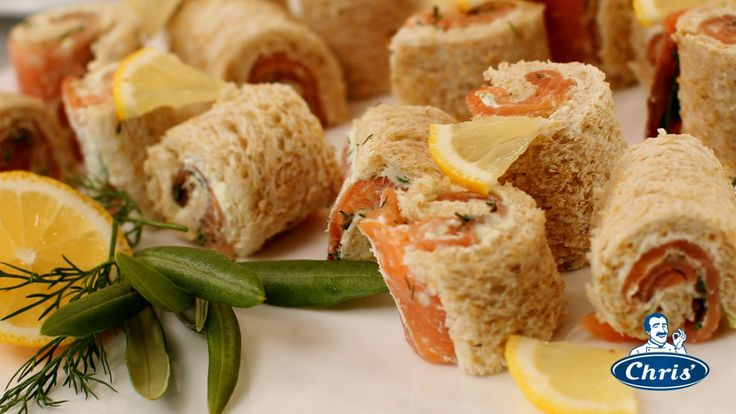 smoked salmon and spring onion rolls