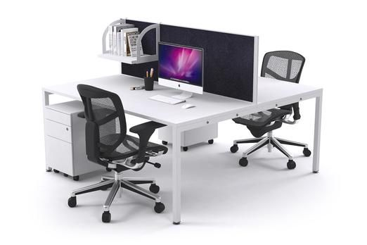 Litewall 2000 2 Person Office Workstation White Square Leg. This Litewall 2000 is an affordable office workstation that is completely customisable to your liking. Choose the desk and screen colours as well as the size based on your workplace's requirements.
