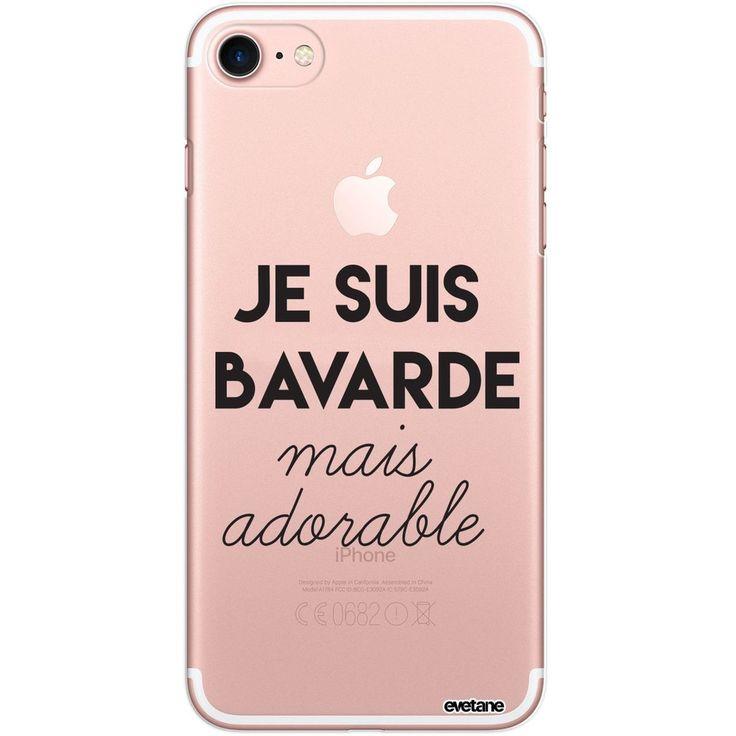 Coque Iphone 7 Iphone 8 Rigide Transparente Bavarde Mais Adorable Ecriture Tenda…