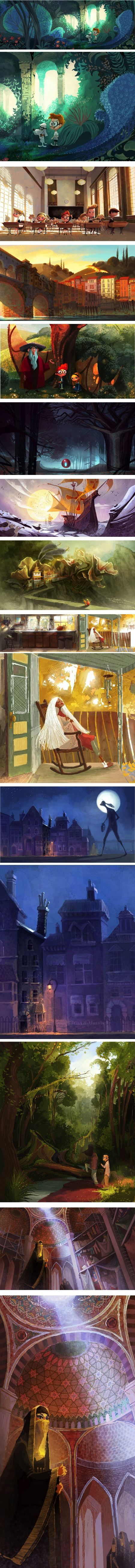 Priscilla Wong, ETELOIS, Mr. Peabody and Sherman concept art and others