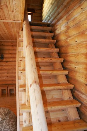 лестница простая бревно