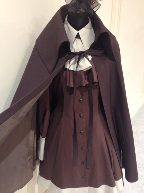 Atelier boz - 新色(茶)◆フード・コウモリ襟ミニマント◆入荷