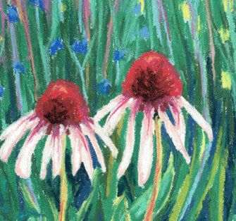 Hey, I found this really awesome Etsy listing at https://www.etsy.com/listing/197609879/original-cone-flowers-soft-pastel