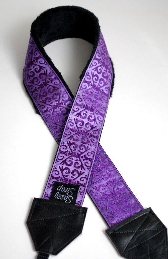 Sassy Camera Strap- Super Chic Purple