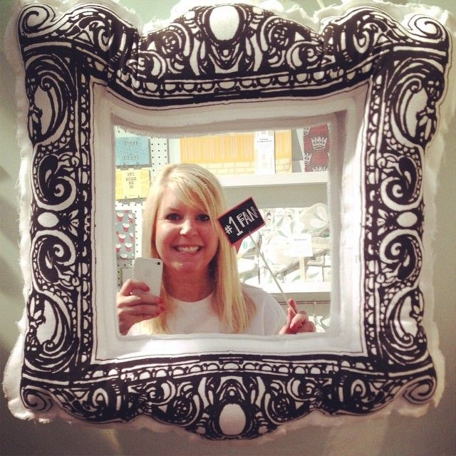 Selfie Station Using A Mirror And Signs Written Backwards