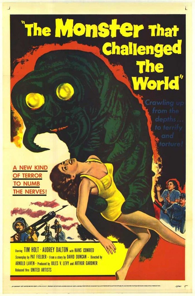 vintage horror movie posters | Old Horror Films - Retro Film Posters - The Monster That Challenged ...