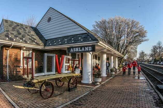 ASHLAND, VA. -located just north of Richmond, this quaint little town is famous for its historic railroad and train station.
