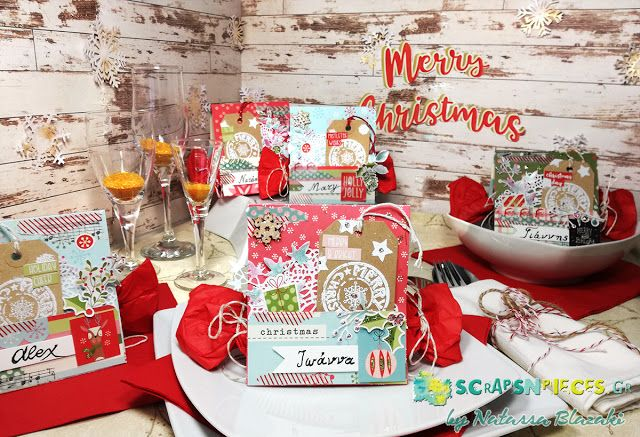 """Art Recipes and More: Christmas Place Cards - """"Creativity"""" magazine Winter Issue"""
