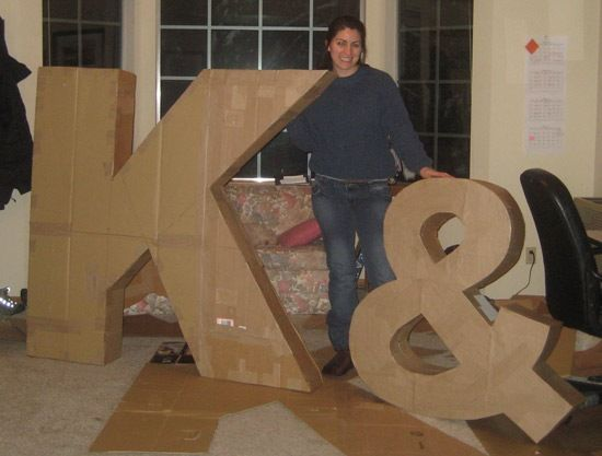 Large initials for empty wall in family room. Could be a fun focal point but do I have the patience to do this?!?!