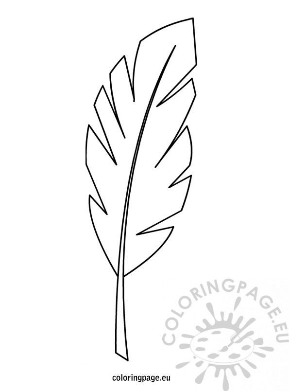 Palm Branch Template Palm Branch Leaf Coloring Page Coloring Pages