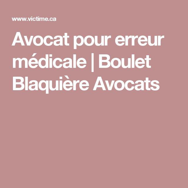 Avocat pour erreur médicale | Boulet Blaquière Avocats