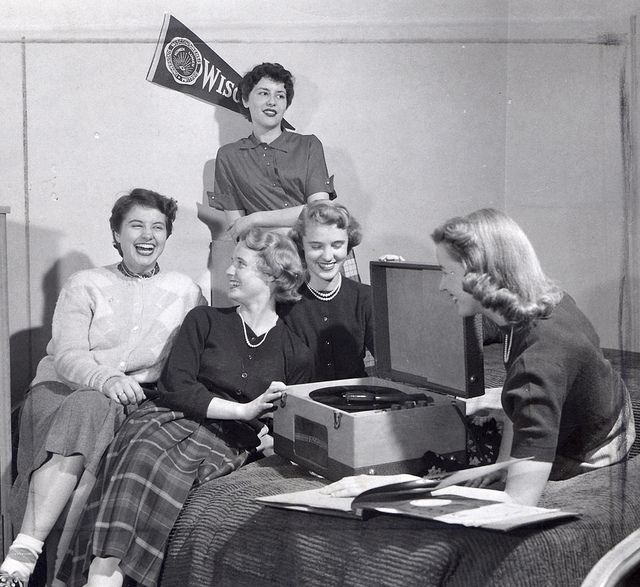 A Record Party With Elizabeth Waters Hall Residents 1950s