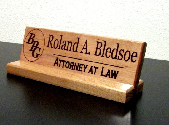 Name Plate Personalized Wood Sign Office By