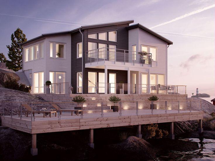Arholma ett sluttningshus för stora familjen - Myresjöhus