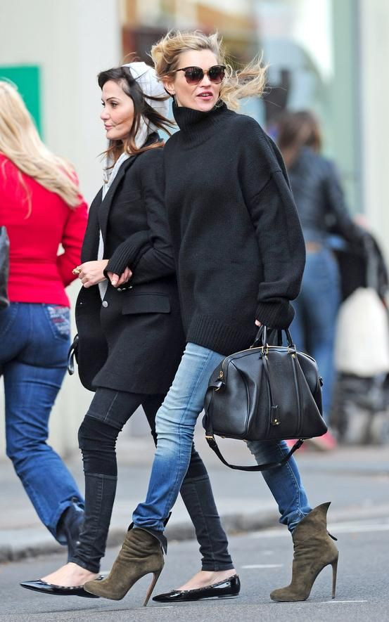 Kate Moss Style – Shop Oversize Sweaters - Style.com
