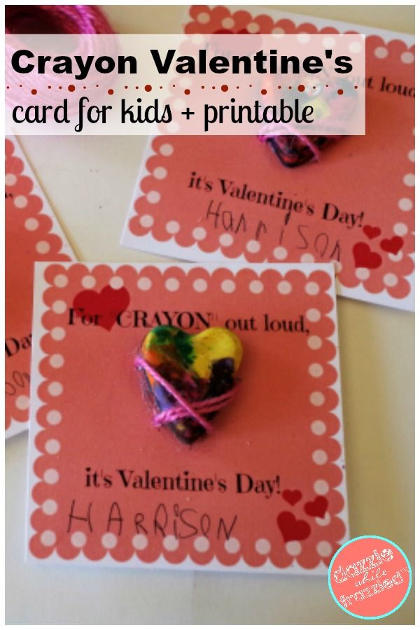 3 Easy Cute Kids Valentine S Day Cards With Free Printables