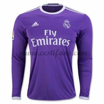 Real Madrid Fotbalové Dresy 2016-17 Venkovní Dres Dlouhým Rukávem