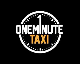 One Minute Taxi by durand   -   Popular Logo   -   logopond.com