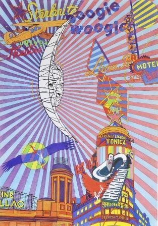 Sobre el cielo madrileño, exactamente sobre el edificio Carrión (Capitol) y el cine Callao resplandece mi luna: Pilar Coomonte.