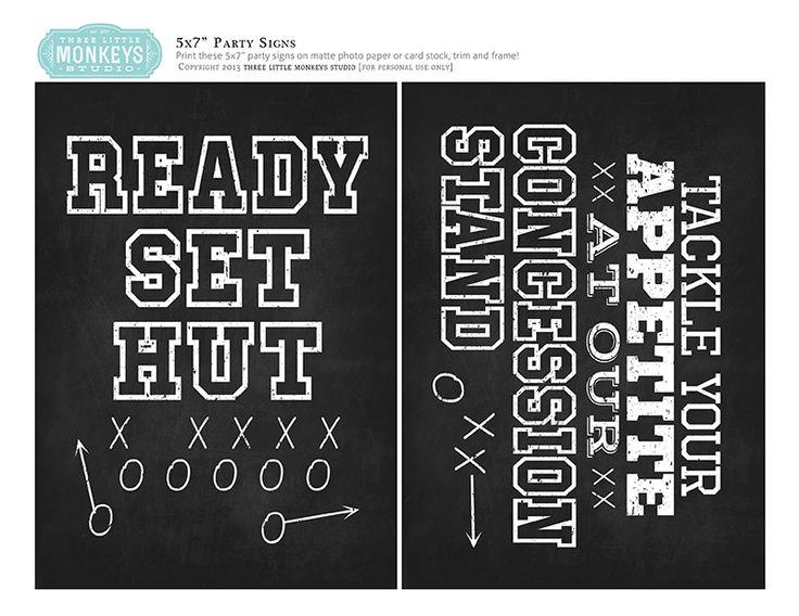 10 Free Football Printables for Your Get-Together   Three Little Monkeys StudioThree Little Monkeys Studio