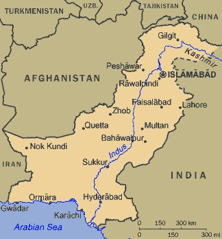 Pakistan : The Indus River is a major river in Asia which flows through Pakistan. It also has courses through western Tibet and northern India. Originating in the Tibetan Plateau, the river runs a course through the Ladakh region of Jammu and Kashmir, towards Gilgit and Baltistan and then flows in a southerly direction along the entire length of Pakistan to merge into the Arabian Sea near the port city of Karachi in Sindh. It is Pakistan's longest river.