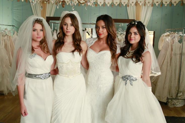 Why are the Pretty Little Liars in Wedding Dresses?