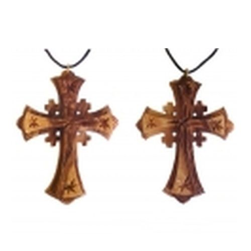 The beauty and fine craftsmanship of this ornately detailed handcarved treasure is captured in each and every necklace. Jerusalem Cross, also known as Crusaders Cross Every Necklace is unique  You will wear it, carry it in your pocket, hang it in your car or in your room! This truly is a great gift for both men and women.