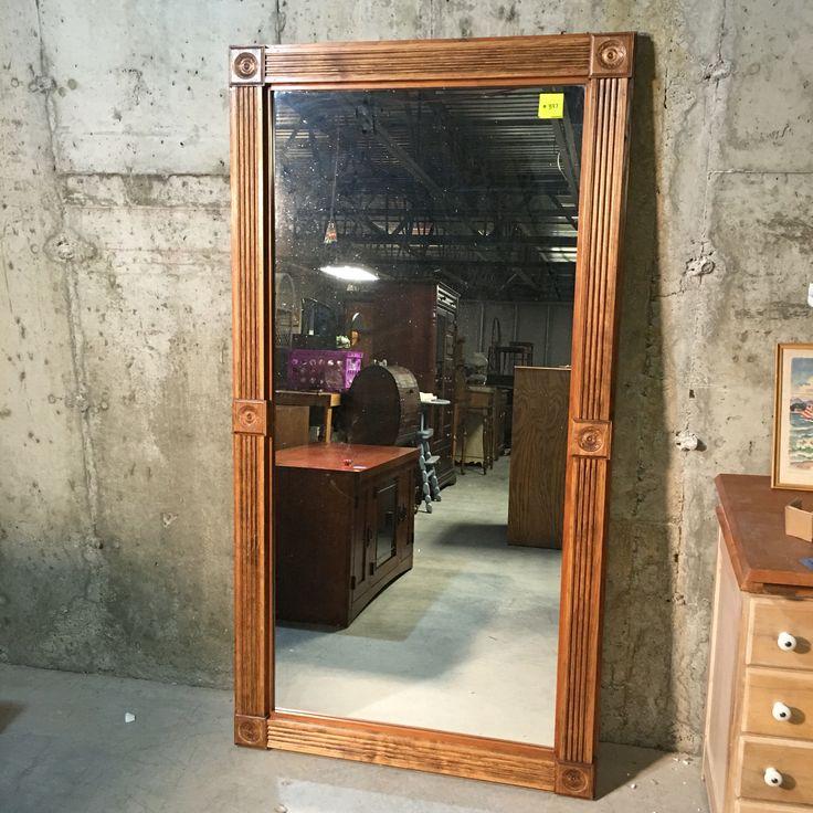 Full Length Floor Mirror 70 Wood Frame Clear Pine 36