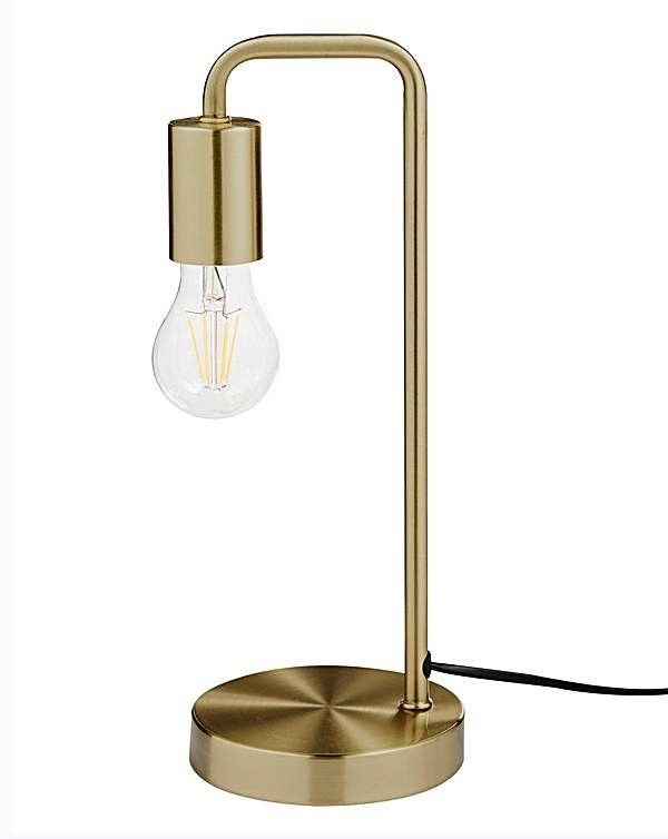 Exposed Bulb Table Lamp Brass Simply Be Exposed Bulb Bedside