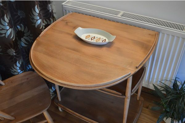 Ercol 3 Tier Drop Leaf Trolley | Vinterior London  #midcentury #design #furniture #interiors